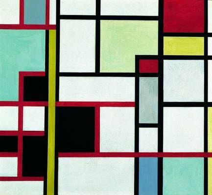Clausen, Franciska (1899-1986) - 1930 Composition Vertical/Horizontal (Modern Museum, Stockholm, Sweden) | Gouache; 40 x 40 cm.