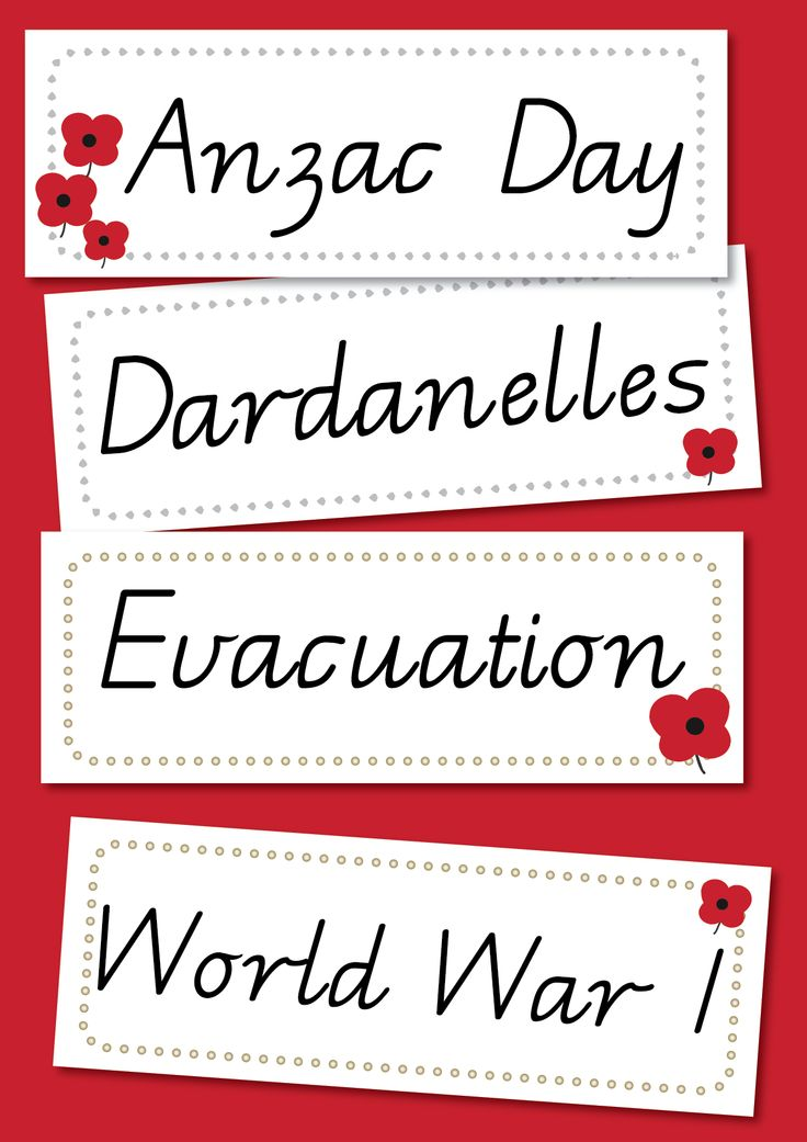 Anzac Day Word Wall – Victorian Modern Cursive. A word wall containing 32 key words associated with the Battle of Gallipoli and World War I. Read More →