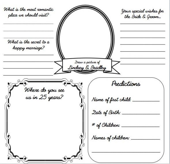 Best Dyi Printable Wedding Guest Book Alternative Templates