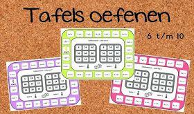 Juf Shanna: Tafels 6 tot 10 oefenen met tafelbingo!