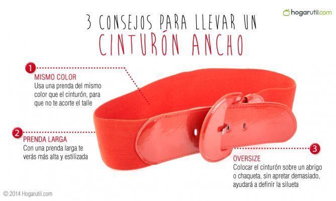 Cómo llevar un cinturón ancho. Consejos para lucir y combinar un cinturón ancho con tu ropa. #moda #consejos #cinturón