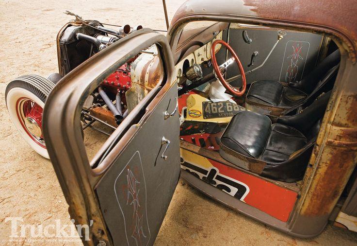 Custom Door And Door Sill Panels On An Open Wheel Ratrod