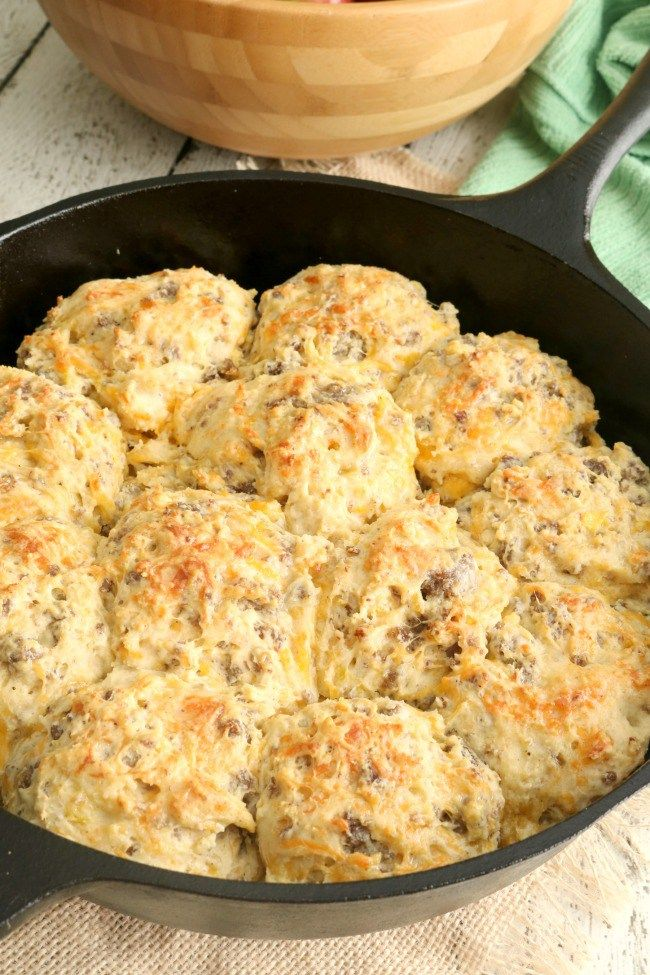 These Loaded Breakfast Biscuits are a family favorite because they are easy to make and portable, so they are perfect to grab one (or two) on the go. They are also a great brunch menu item. Same great taste as a layered breakfast biscuit with the components baked right in!