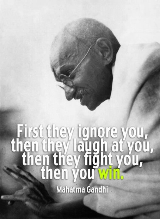 Ghandi used the nonviolent deviance, one of the hardest forms of deviance to uphold. #nonviolence