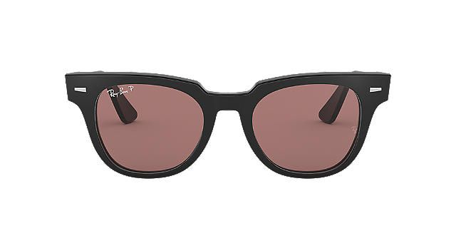 3dfec036471d RAY-BAN Black RB2168 50 METEOR Purple polarized lenses 50mm ...