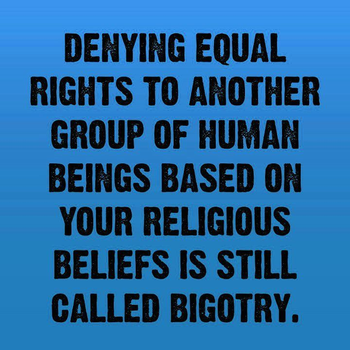 Equal rights…..