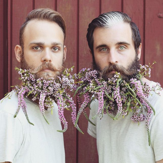 This Creative + Colorful Beard Duo Should Be Every Man's Style Inspo via Brit + Co.