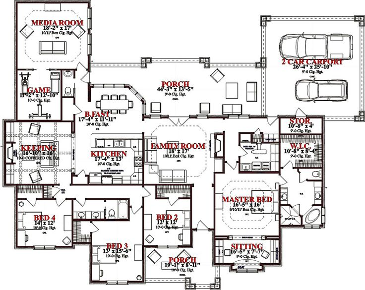 Stick house floor plans House and home design