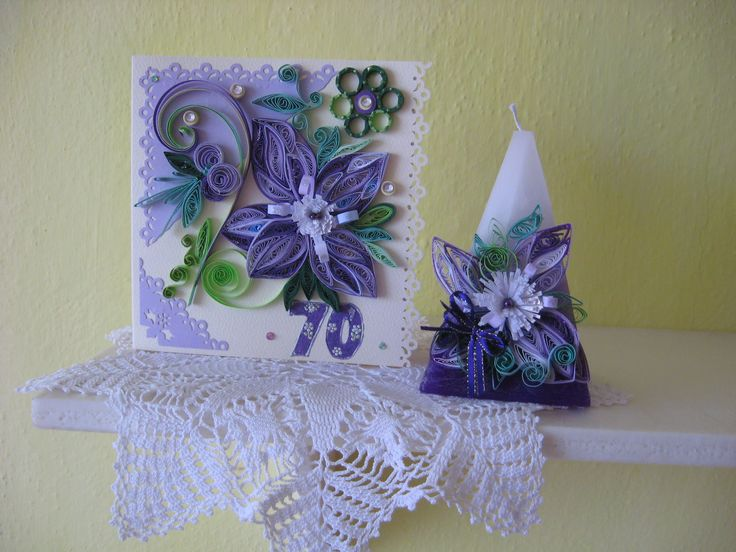 quilling card and candle