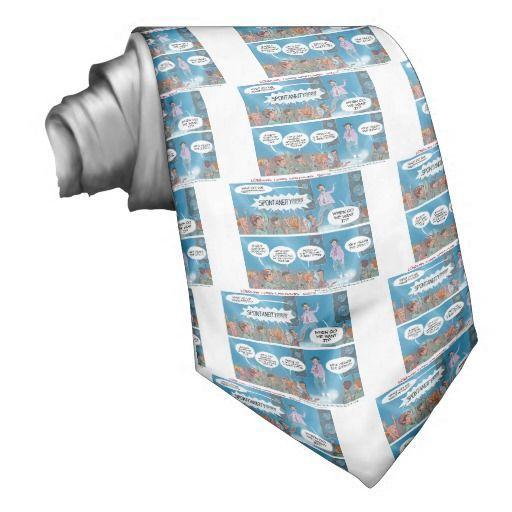 #Funny #Necktie by @LTCartoons #zazzle #lifecoach #procrastination #humor #sale #gift #fashion
