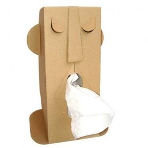 Distributeur de mouchoirs en carton recyclé