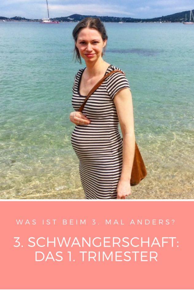 Dritte Schwangerschaft: Was ist diesmal im ersten Trimester anders? Gedanken zum Babybauch, zum dritten Kind und zum Mutter-Sein von drei Kindern.