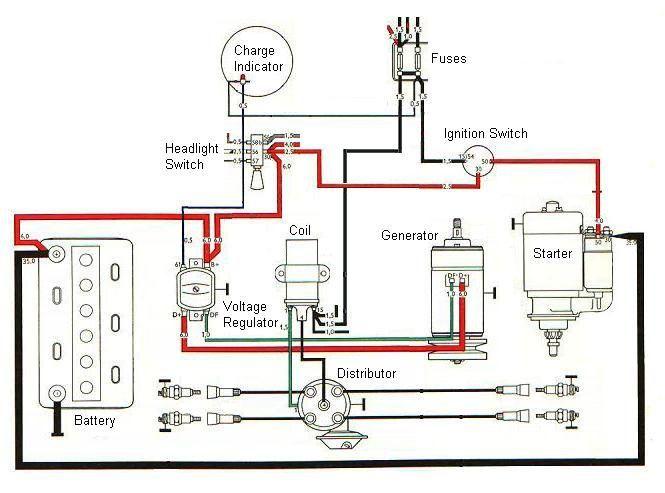 basic tractor wiring diagram