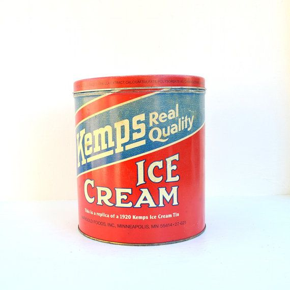 Kemps Ice cream tin box replica 1920 from the 1970's.  We still have some of these from Dad's  dairy days!