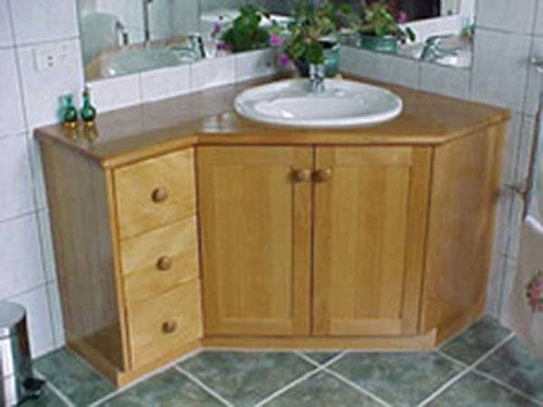 Bathroom Corner Sink Cabinet : Corner Sink Bathroom on Pinterest Bathroom corner basins, Corner ...
