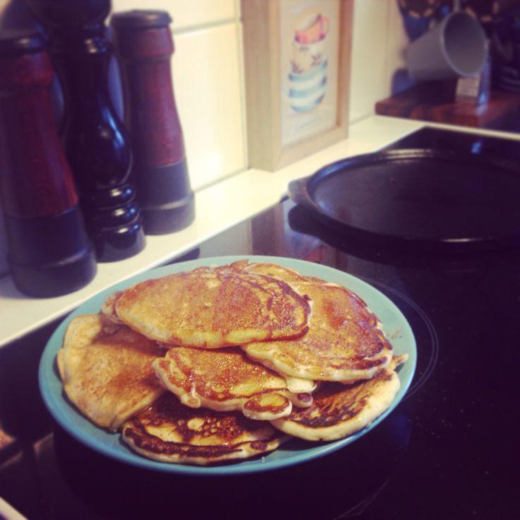 Amerikanska pannkakor, amerikan pancakes. Snabbt och lätt recept!