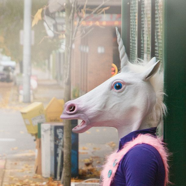 Unicorn Mask.....yes, you can really buy this. You're welcome.