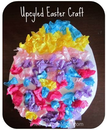 Last-minute (5-minute) Easter Egg Kids' Craft with materials you have lying around.