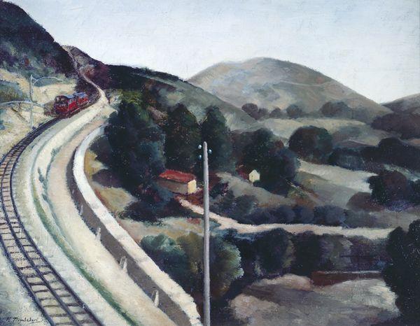 Francesco Trombadori - Paese (Cremagliera. Paesaggio d'Abruzzo), 1930-31