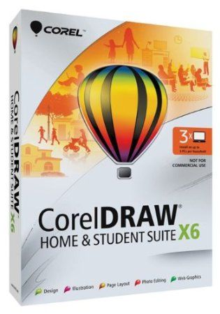 Whether you dabble in design or want to create eye-catching projects, CorelDRAW Home & Student Suite X6 has everything you need in one complete graphic design suite. With its robust content, graphic design, illustration, page layout, web graphics, and photo-editing features, you can express your unique style and creativity with ease. Whatever your level of design experience, you'll have all the learning tools to create with confidence. Price: $111.99