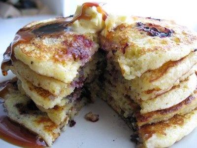 Cornmeal pancakes, Pancakes and Blueberries on Pinterest