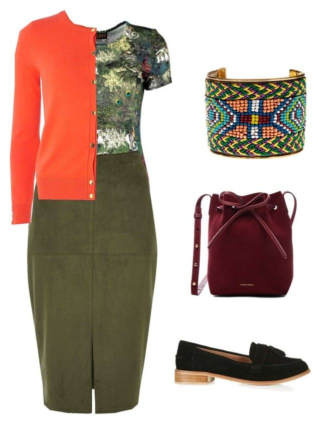 colourful autumn work outfit by justyna-kowalcze on Polyvore featuring moda, Dorothy Perkins, Santorus, River Island, Topshop, Mansur Gavriel and Natasha