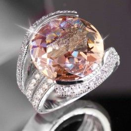 If only this had real diamonds! :) Champagne Blush Ring $129.