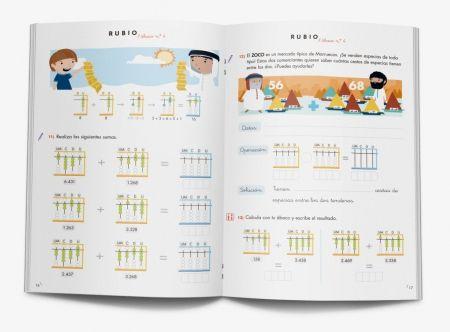 4 Matemáticas con ábaco-Colección de cuadernos para aprender matemáticas con ábaco japonés. Cuadernos Rubio. www.rubio.net