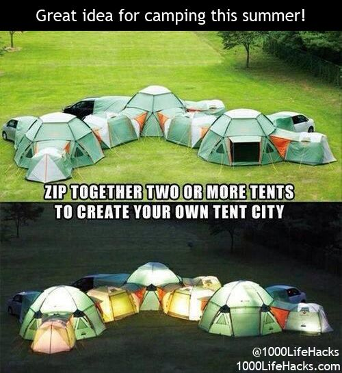 Great camping idea for this summer! #girlscamp