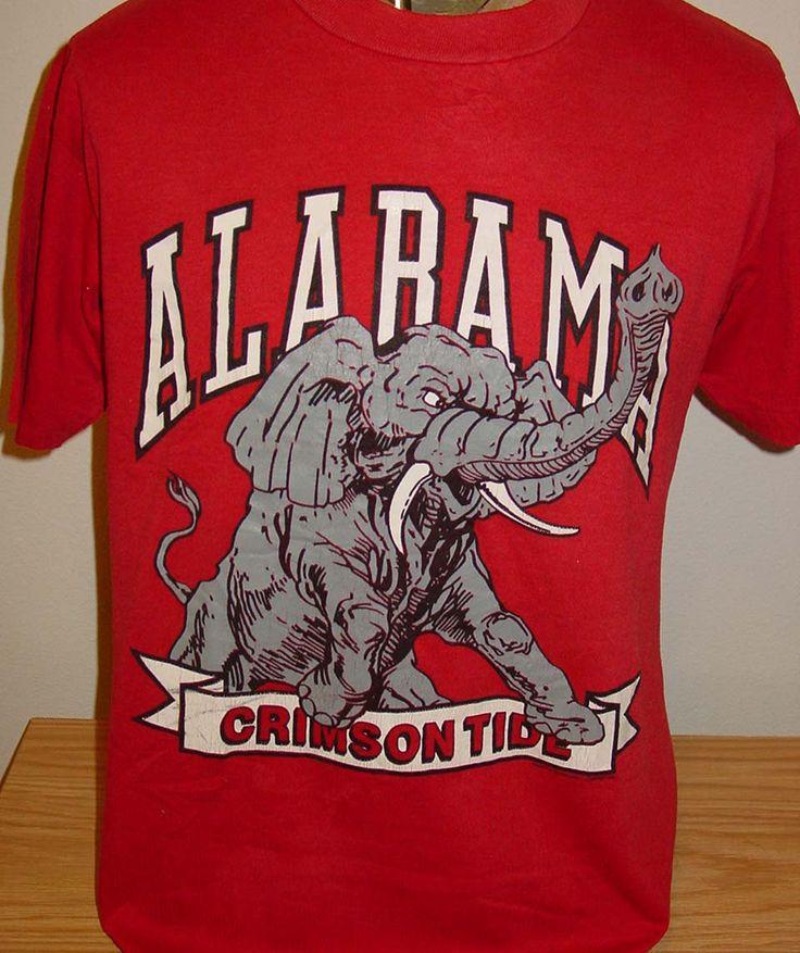 vintage 1980s Alabama Crimson Tide football snoopy jersey t shirt ...