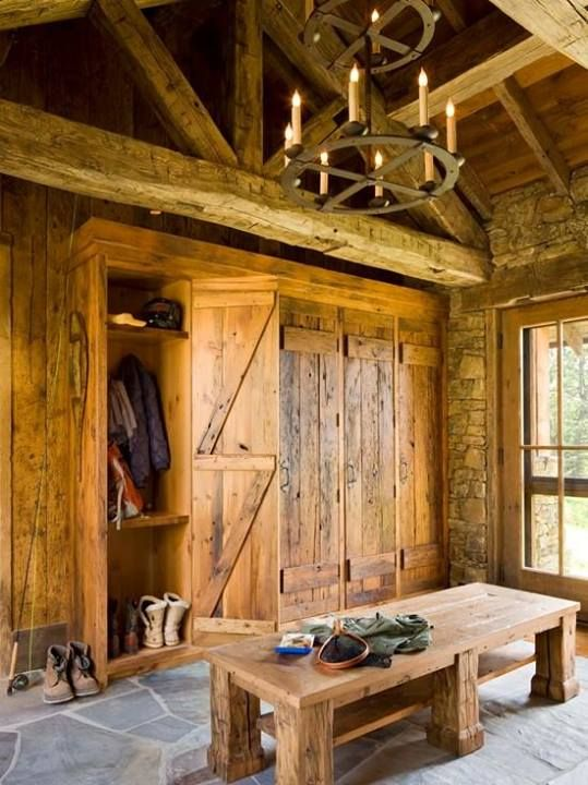 Home Notre Foyer : Rustic mudroom home decor log ideas pinterest