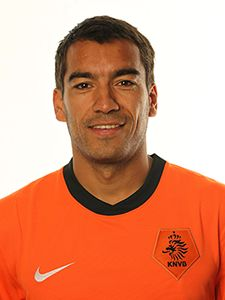 Giovanni Van Bronckhorst, The Netherlands - you gotta be really good looking if you can even take a good FIFA website shot