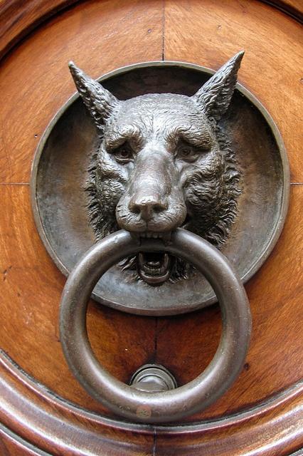 1000 ideas about brass door knocker on pinterest antique doors door handles and door knobs - Wolf head door knocker ...