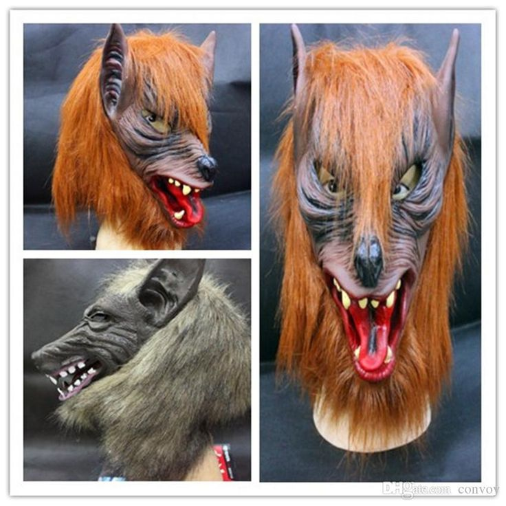 Best Quality Halloween Costume Party Mask Brown Wolf Black Wolf Head Masks Bar Decorate High Grade Latex Animal Mask Creepy Adult Wolf Costume Prop Hm89 At Cheap Price, Online Party Masks | Dhgate.Com