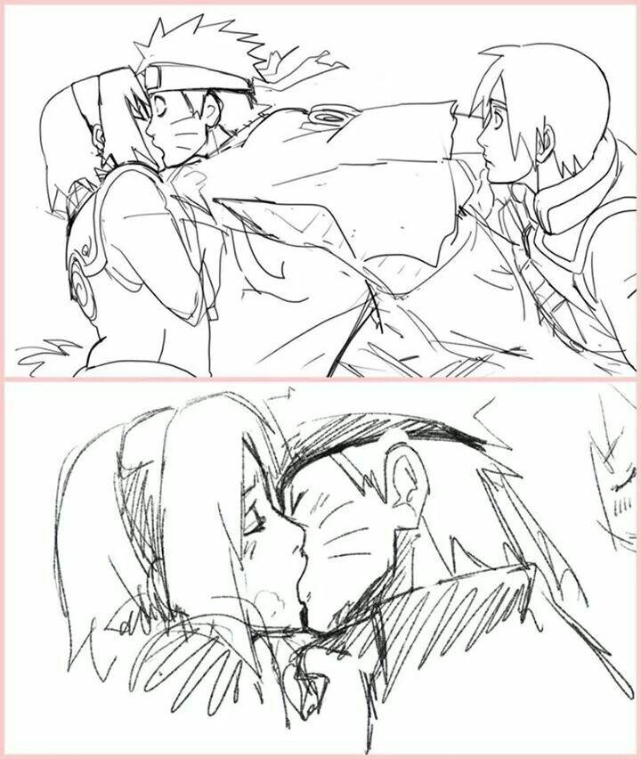 Sakura y naruto beso robado