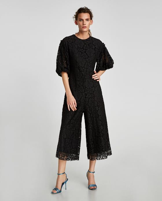 bf561cd9690f ZARA - WOMAN - CROPPED LACE JUMPSUIT