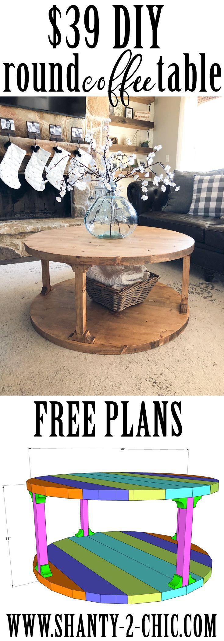 Diy Round Coffee Table Round Coffee Table Diy Diy Coffee Table Coffee Table Farmhouse [ 2100 x 735 Pixel ]