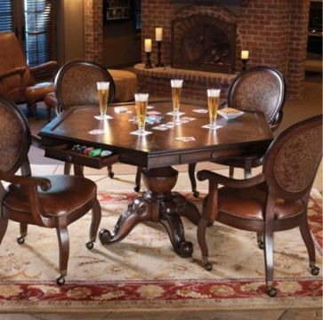 Austin Game Table - traditional - home office products - FRONTGATE