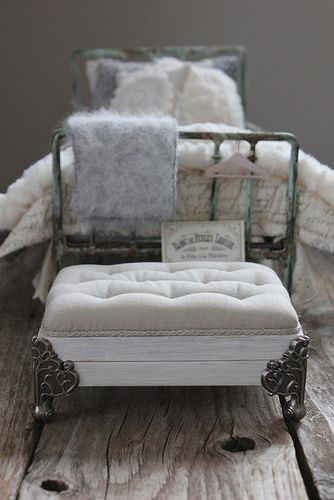 1:6 scale tufted storage ottoman | Flickr - Photo Sharing!