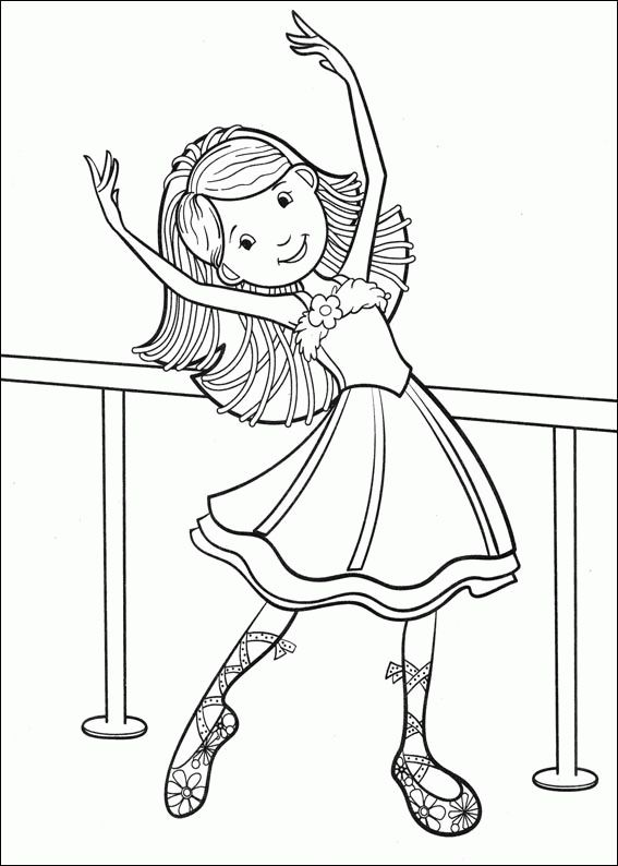 Groovy Girls Are Preparing To Have Ballet Exercise Coloring Pages