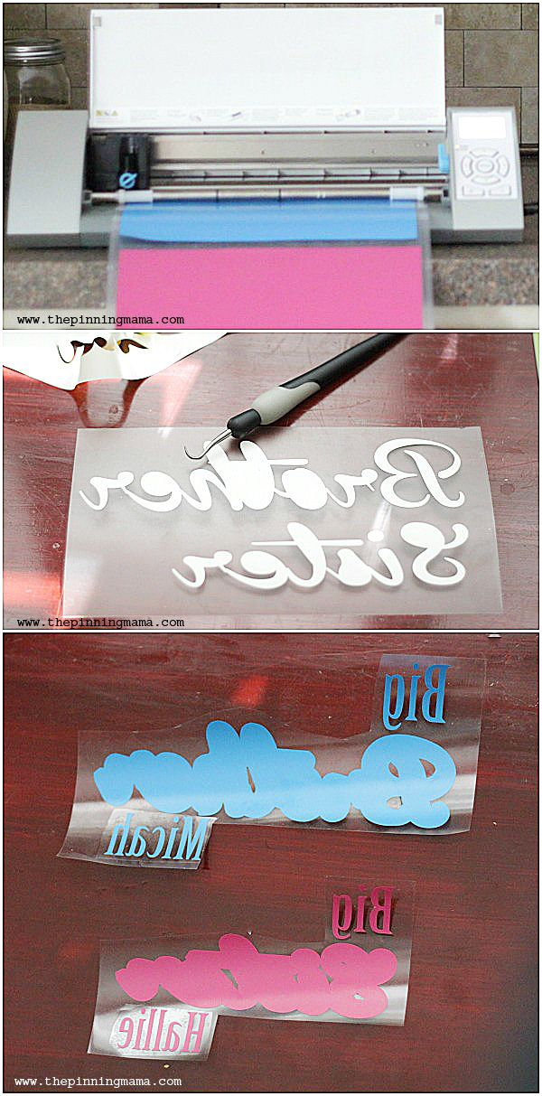 Just a few easy steps to layer heat transfer vinyl to make beautiful creations!  Silhouette CAMEO or Cricut craft by www.thepinningmama.com