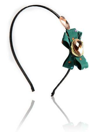 Buy Headband With Bow - Spunky Abstract Bow Band at Thia
