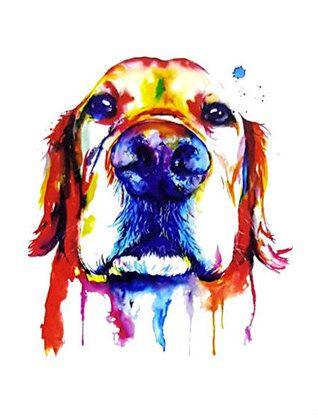 Tijdelijke TATTOO gouden Labrador RETRIEVER kleurrijke mode