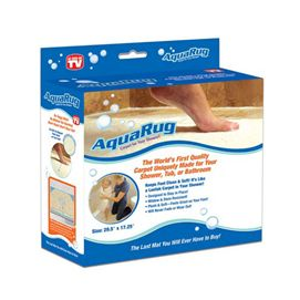 The AquaRug is designed to be used in water areas, it's anti-microbial poly fibres help prevent mould and mildew build up on mat.