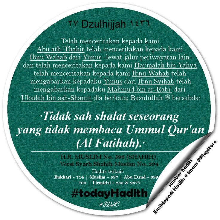 Bismillah   #TodayHadith #hadisshahih #Muslim596 #hadits_hari_ini #27Dzulhijjah1436H #hijriahdate #hijriahcalendar #alfatihah #shalat #sharingiscaring #dakwah #muslim #life #sunnah #ISLAM #pictoftheday #latepost