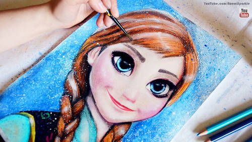#frozen #fever #anna #elsa #doyouwanttobuildasnowman #drawing #art #howto #letitgo #painting #wallpaper #fullmovie #frozen2 #noemisparkle #tutorial #youtube