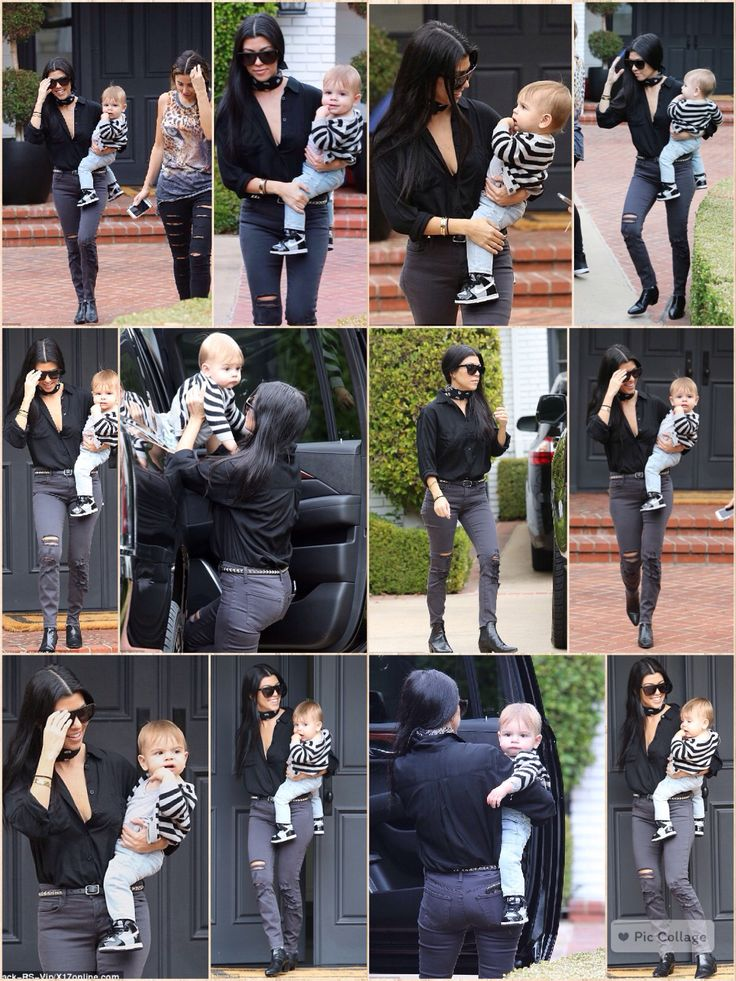 Kourtney Kardashian stepped out with son Reign, 11 months, on Thursday (December 10).  Joined by friend Larsa Pippen, the mother-son duo went to a music class in Beverly Hills, Calif.
