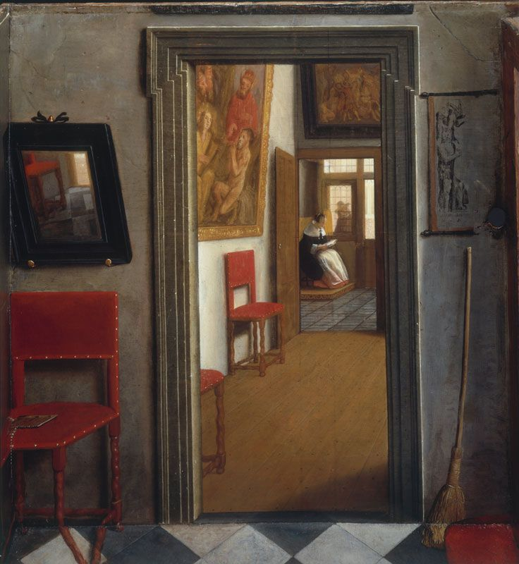 Fig. 2  Samuel van Hoogstraten, A Peepshow with Views of the Interior of a Dutch House (detail: interior right), 1655–60, oil and egg on wood, 58 x 88 x 60.5 cm. National Gallery of Art, London, inv. no. NG 3832.D7 (artwork in the public domain; photo credit: © National Gallery of Art, London/Art Resource, NY)