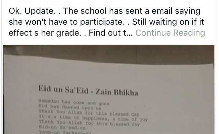 "Minn. students to sing Muslim prayer ""Allahu Akbar"" at high school Christmas concert 