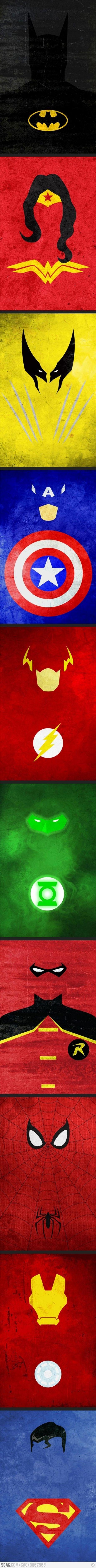 Minimalist Superheros